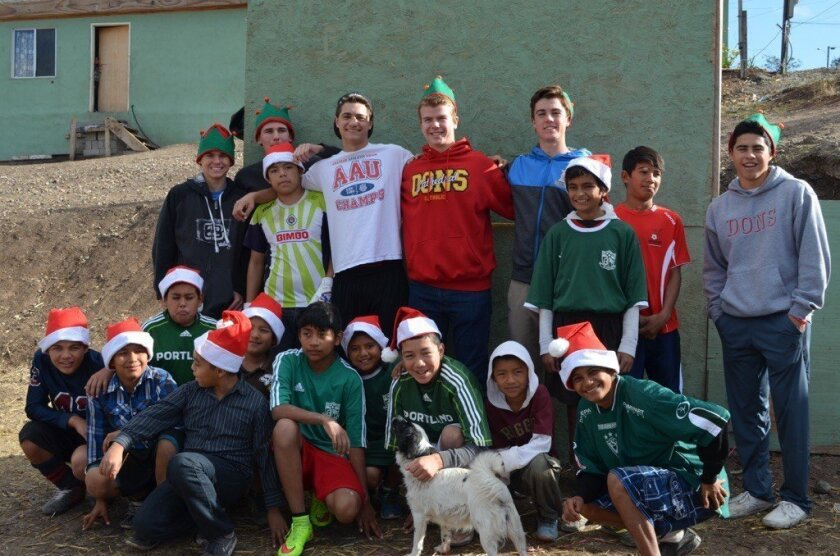 The CCHS boys and their buddies in Tijuana.