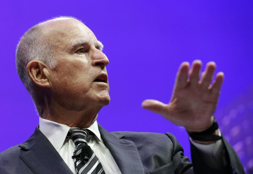 """On the refugee issue, Gov. Jerry Brown said he would """"work closely"""" with President Obama """"so that he can both uphold America's traditional role as a place of asylum, but also ensure that anyone seeking refuge in America is fully vetted."""""""