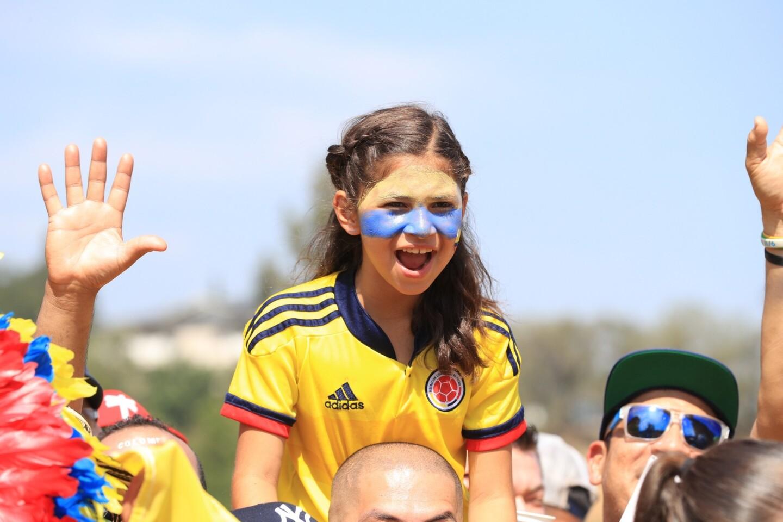 Imágenes del ambiente previo al Colombia vs. Paraguay en Pasadena