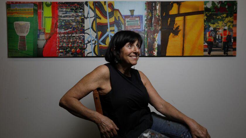 Artist Jaime Scholnick in her East L.A. studio.