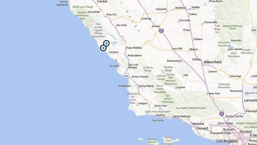 Earthquakes: 3.7 and 3.8 quakes strike near San Simeon, California