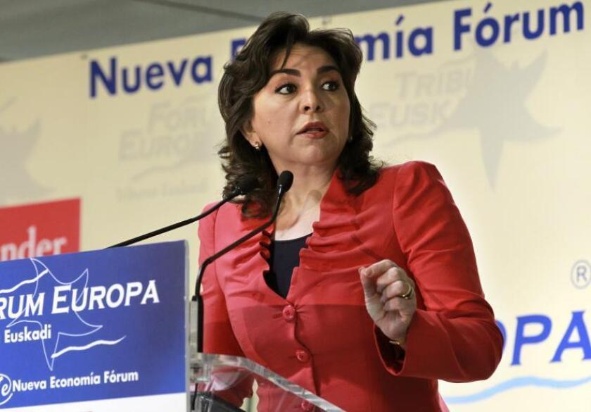 Fotografía de archivo de la exgobernadora del estado mexicano de Yucatán Ivonne Ortega. EFE/Alfredo Aldai/Archivo