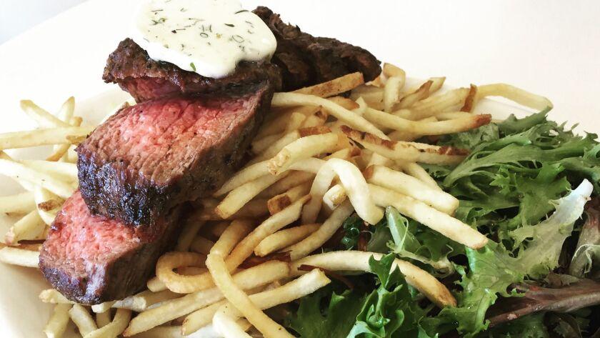 Steak Frites at Cafe Chloe in East Village