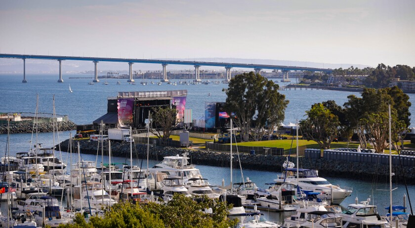 The Wonderfront Music and Arts Festival, seen here at Embarcadero Marina Park North, has canceled its 2020 edition, but organizers say it will return in 2021.