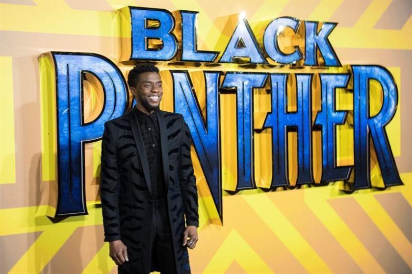 El actor estadounidense Chadwick Boseman posa a su llegada al estreno de la película Pantera Negra. EFE/Archivo