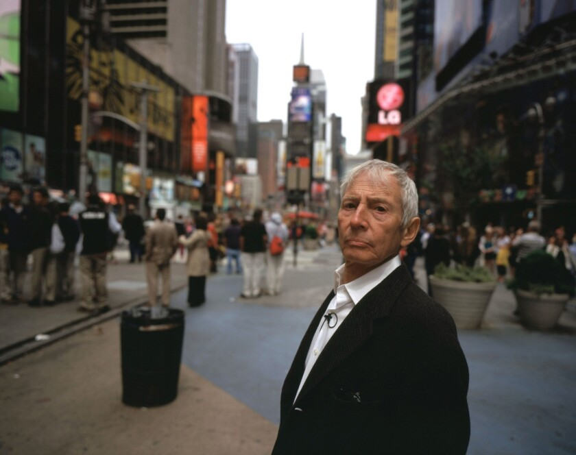 Robert Durst, arrested on suspicion of murder just before the documentary finale about him aired.