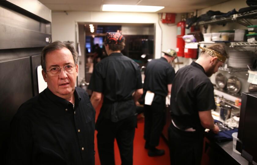 Hopleaf owner Michael Roper in the kitchen at his Andersonville neighborhood bar/restaurant on Thursday, February 16, 2017.