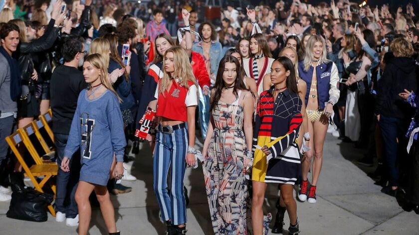 Tommy Hilfiger presented his women's spring looks including the second Tommy X Gigi collection -- this time, in Los Angeles.