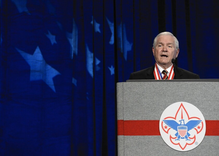 Robert Gates, president of the Boy Scouts of America, pushed to revise the policy on gay leaders.