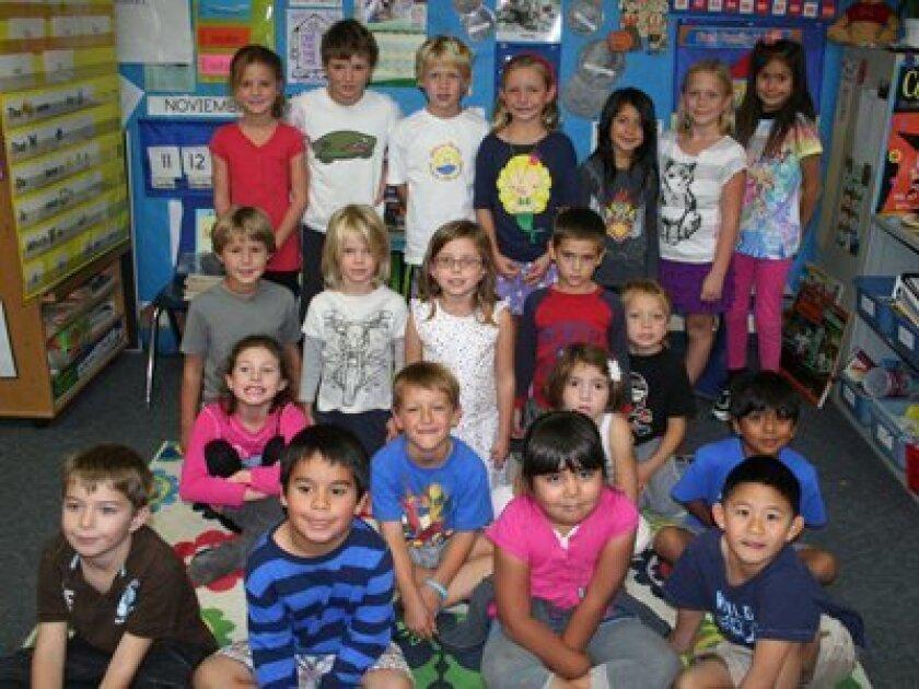 Students in Judith Tillyard's combination class at Skyline School