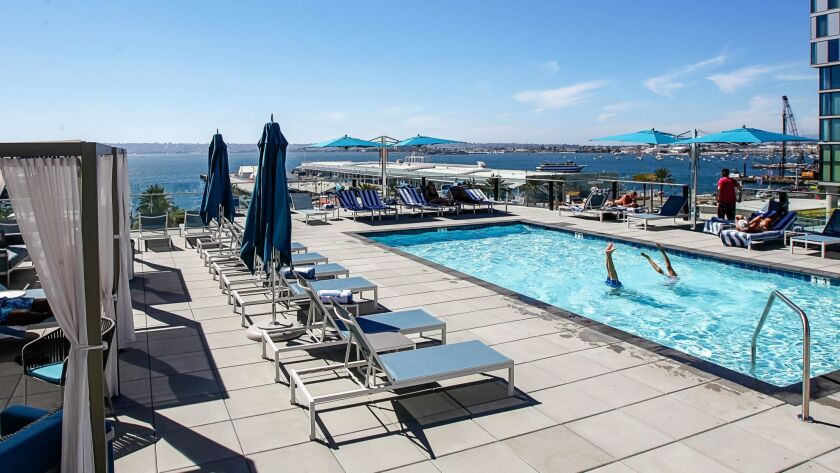 SAN DIEGO, CA Aug. 30th, 2018 | This is the pool area at the recently opened Hotel Intercontinental