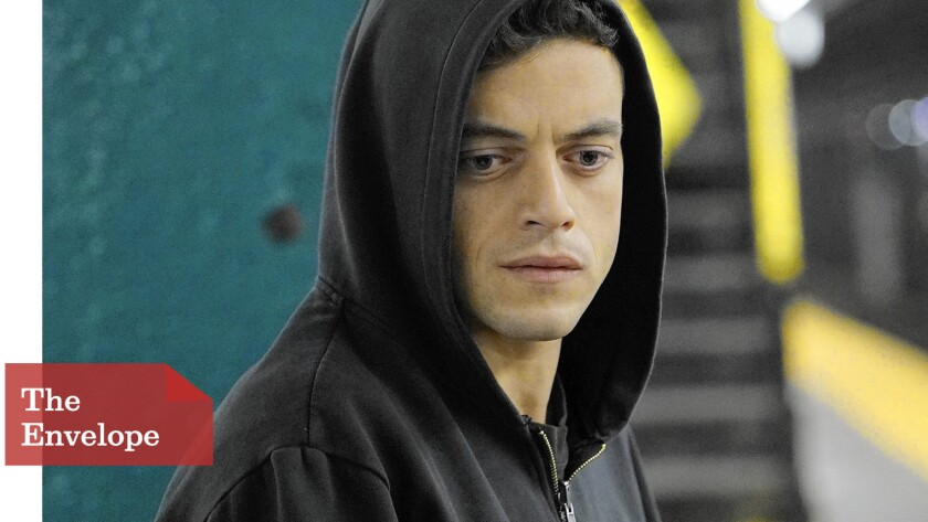 """Rami Malek's performance as hacker Elliot in """"Mr. Robot,"""" along with the show's themes about corporate power and resistance, has helped the USA Network show resonate with an international audience."""