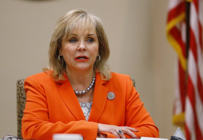 Oklahoma Gov. Mary Fallin has expressed interest in working alongside Donal