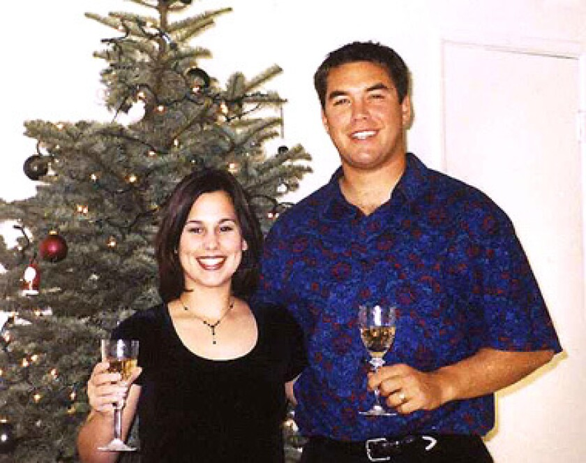 Laci and Scott Peterson are shown in an undated photo.
