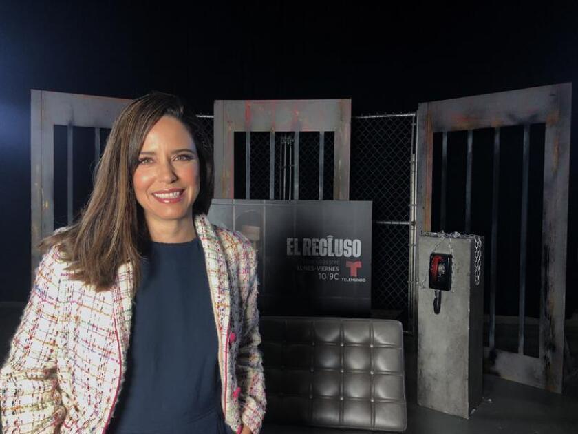 """La actriz mexicana Ana Claudia Talancón posa para Efe durante una presentación de la teleserie """"El recluso"""" en Miami, el 18 de septiembre de 2018. EFE"""