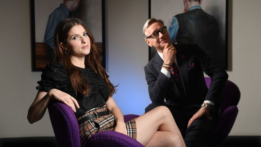 BURBANK, CALIFORNIA SEPTEMBER 5, 2018-Actress Anna Kendrick and Director Paul Feig team-up for the n