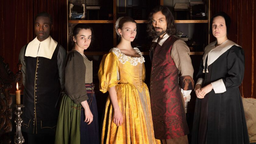 """Paapa Essiedu, from left, Hayley Squires, Anya Taylor-Joy, Alex Hassell and Romola Gara in Masterpiece's €""""The Miniaturist.€"""""""