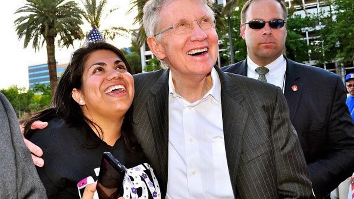 Pen pal inspires Sen. Harry Reid on immigration reform   Los ...