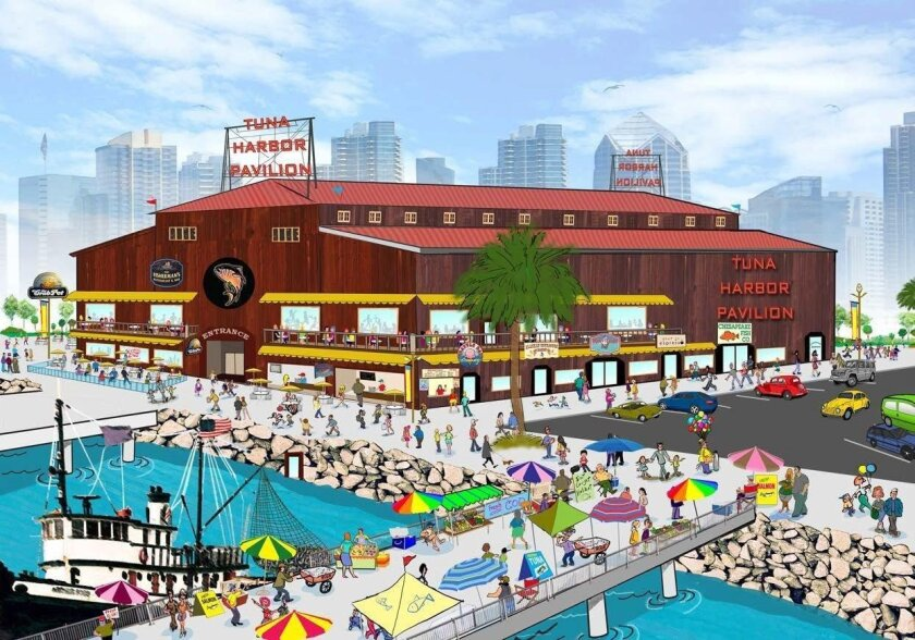 Tuna Harbor Pavilion would include amusement and education rides in a plan by developers Great Western Pacific and Santa Monica Seafood.
