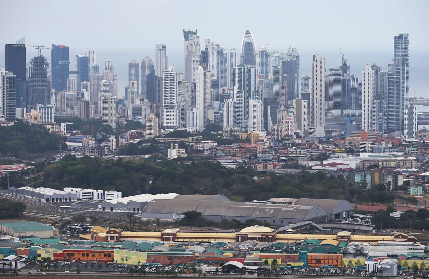 The Panama City skyline Thursday. The city is home to Mossack Fonseca, the law firm at the center of the Panama Papers scandal.