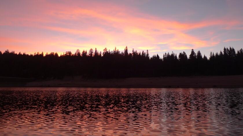 Huntington Lake at sunset.