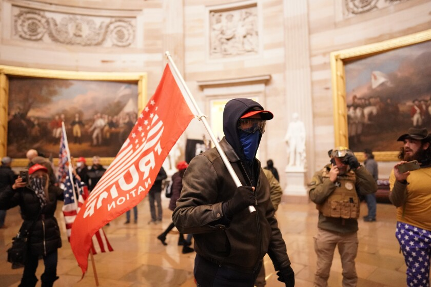 Supporters of President Trump storm the U.S. Capitol on Wednesday.