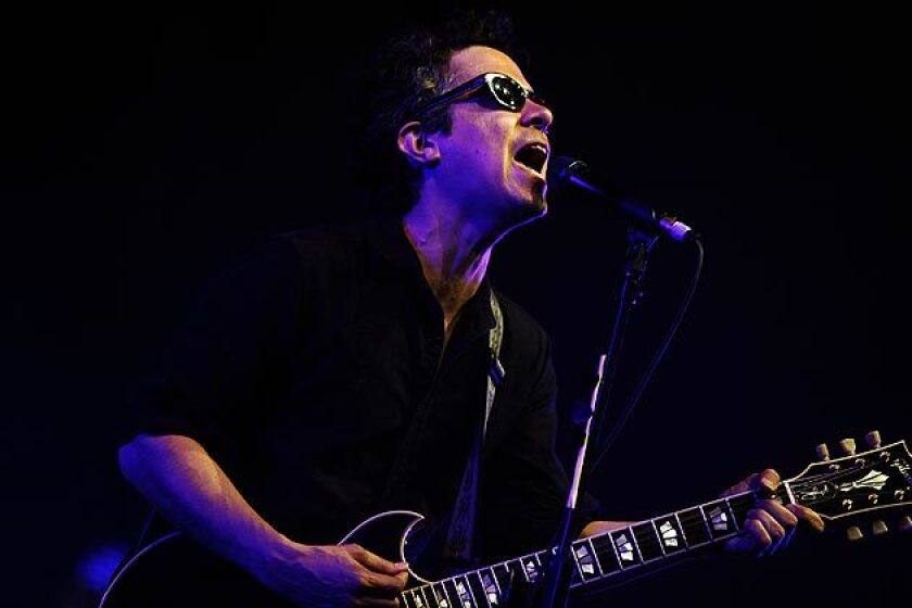 M.Ward performs.