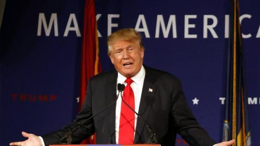 Donald Trump, en un mitín en Great Bay Community College, en Portsmouth, New Hampshire.