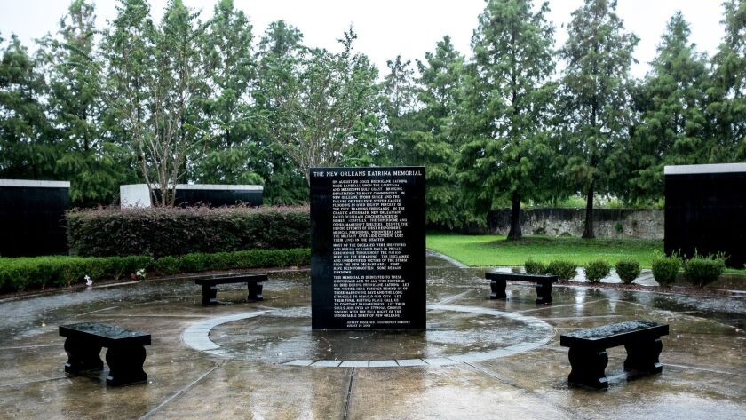 The New Orleans Hurricane Katrina memorial in St. Patrick Cemetery No. 1, containing the bodies of 8