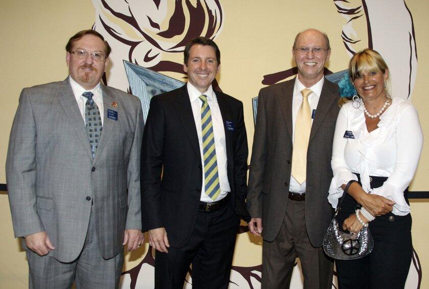 Sotheby office managers Rick Hagen, Brian Arrington, Garry Major and Carey Guthrie. Photo: Kent Horner