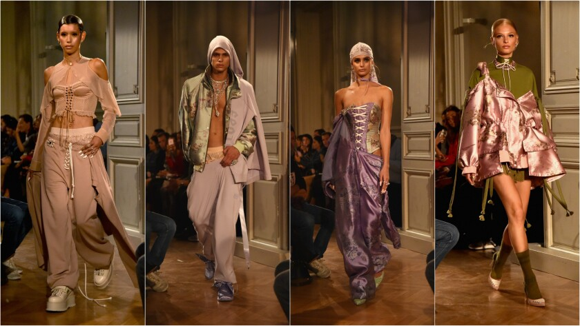 Looks from the Spring/Summer 2017 Fenty Puma by Rihanna collection presented Sept. 28 during Paris Fashion Week