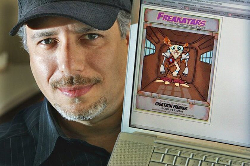 Web entrepreneur Adam Jacobs created Freakatars.com. The site lets users create a creature and order merchandise with that character. (Eduardo Contreras / Union-Tribune)