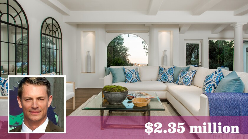 """Actor Joel Kinnaman of """"Suicide Squad"""" and """"The Killing"""" fame has priced his home in Hollywood Hills West at $2.35 million, down from $2.795 million earlier this year."""