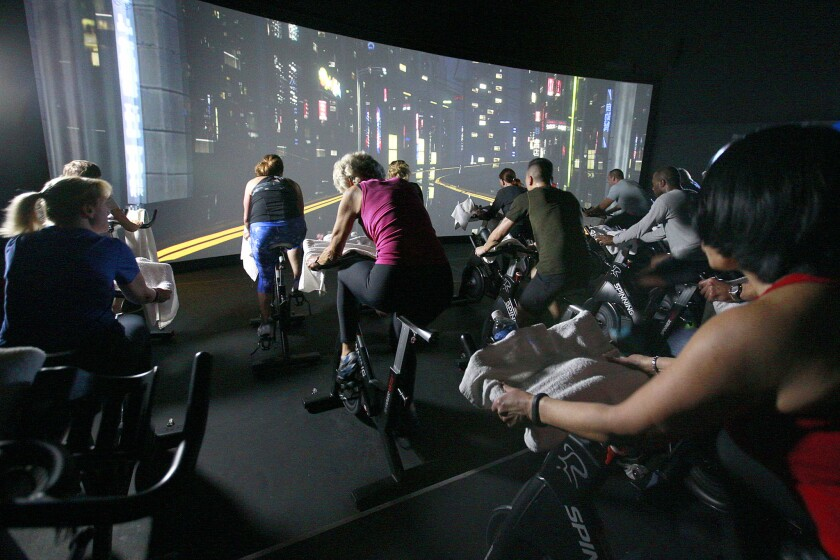 The Trip combines cinematic scenery with a cycling studio class