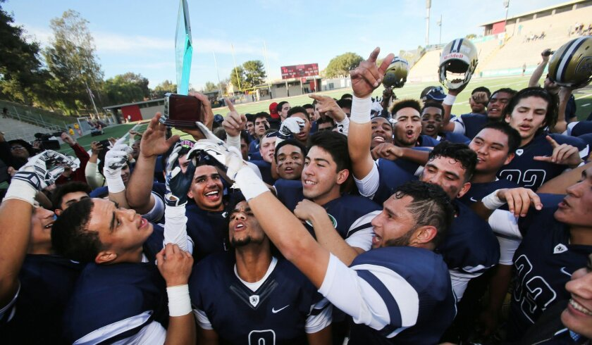 The Bonita Vista football team hopes to be celebrating on its own campus in 2018.