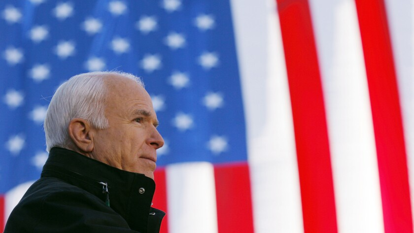 "Sen. John McCain is profiled on a new edition of ""Frontline"" on KOCE."