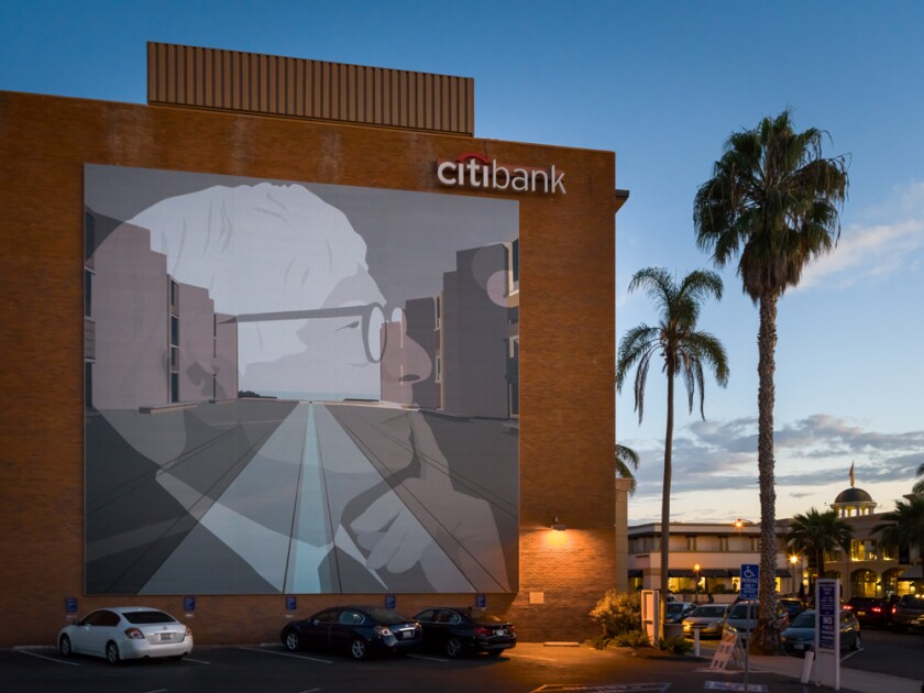 """MURALS OF LA JOLLA: Kota Ezawa's """"Once Upon a Time in the West"""""""