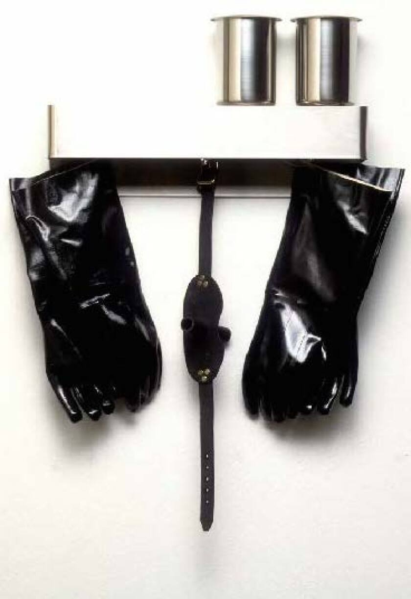 """Kit No.7 (Flush),"" 1990, a sculpture by Nayland Blake."