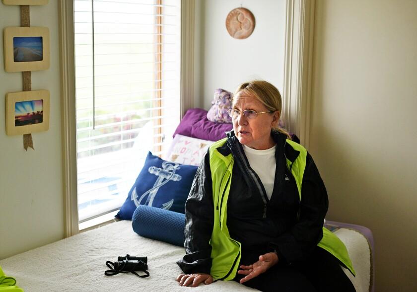 Maria Pointer inside her Boca Chica home.