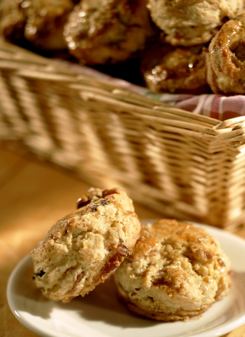 Recipe: Rustic Canyon's maple bacon biscuits