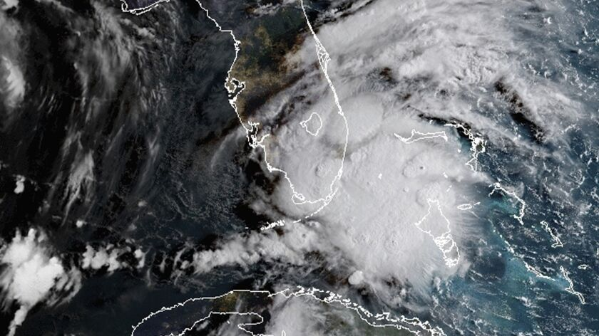 Tropical Storm Gordon hits South Florida on Monday. Weather forecasters said the storm could strengthen to near-hurricane force by the time it hits the central U.S. Gulf Coast.