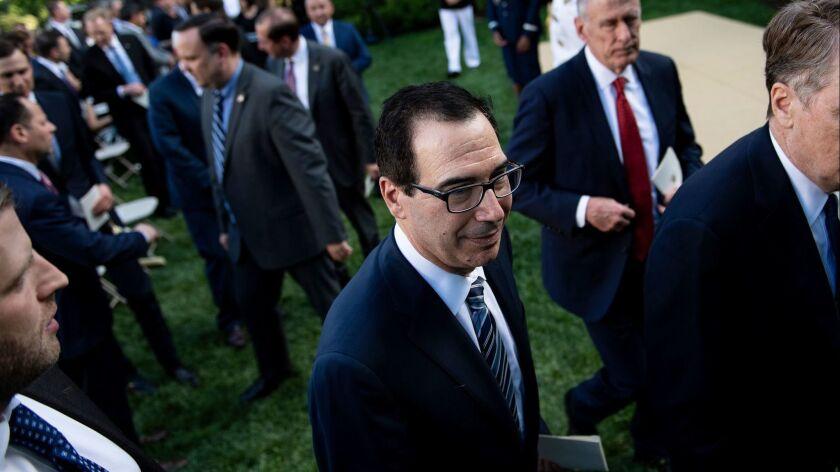 Treasury Secretary Steven T. Mnuchin said the administration won't be turning President Trump's tax returns over to House Democrats.