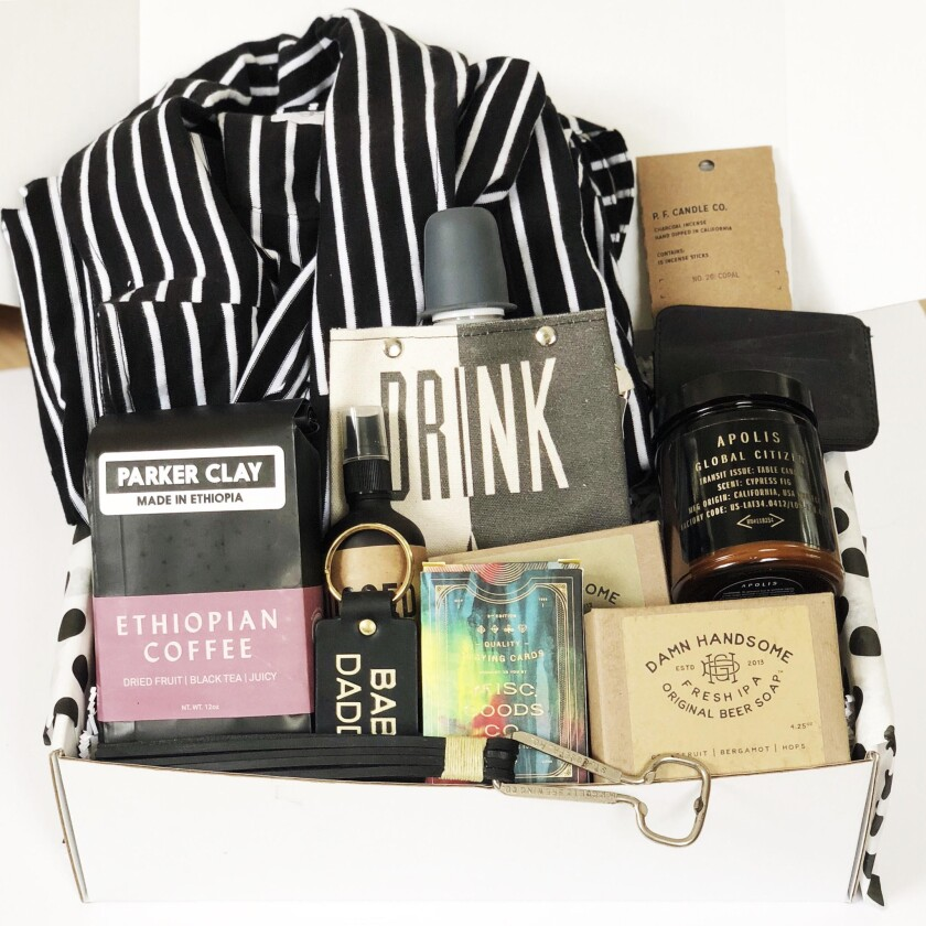 The Ultimate Dad box from Los Angeles based Makers + Goods has several 'feel good' items for dad