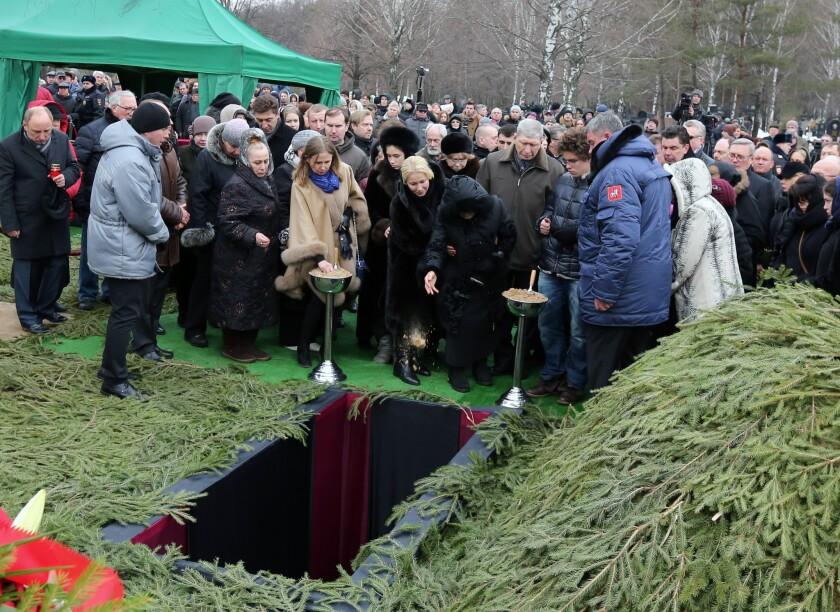 Boris Nemtsov funeral in Moscow