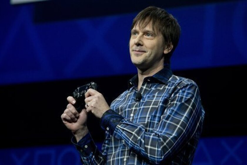 Mark Cerny, lead system architect for the Sony Playstation 4 speaks during an event to announce the new video game console, Wednesday, Feb. 20, 2013, in New York.  (AP Photo/Frank Franklin II)
