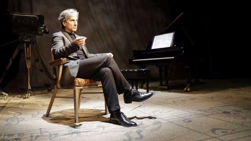"Hershey Felder as Leonard Bernstein in ""Maestro"" in August 2016."