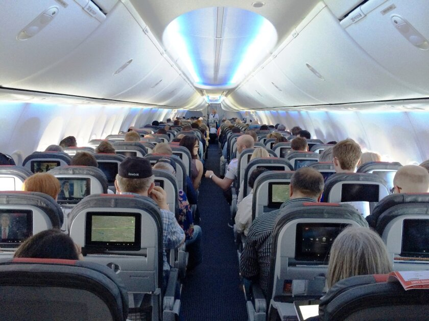 A coalition of consumer groups says the way the federal government tests airlines' smaller seats and cramped cabins is outdated.