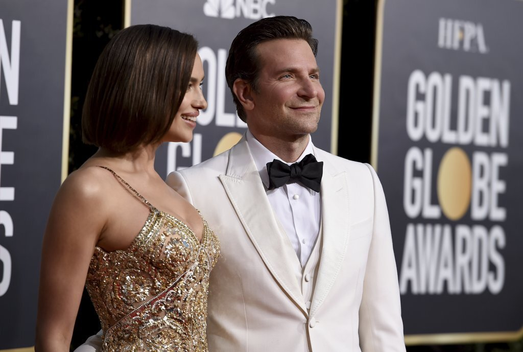 Bradley Cooper and his wife Irina Shayk arrive at the Golden Globes at the Beverly Hilton hotel on Jan. 6, 2019.