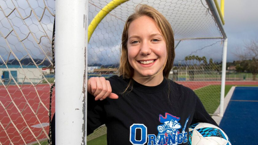 Alexia Bruzzi's goal scoring helped Orange Glen to a section soccer title last season.
