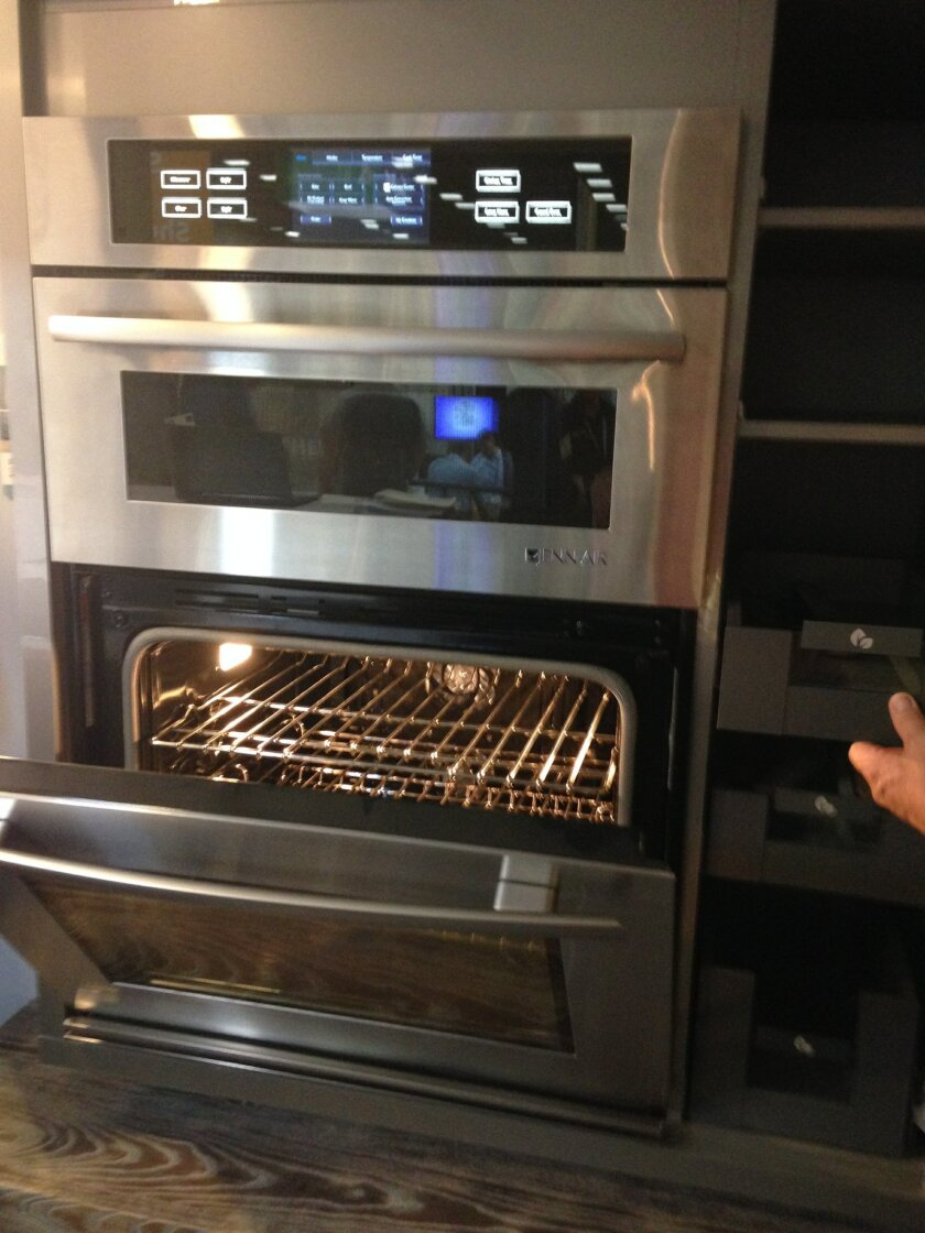 The Jenn-Air oven includes web-connected features, including one model that can be operated remotely.